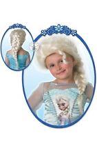 Official Frozen Elsa Snow Queen Wig Blond Plaited Fancy Dress Costume Accessory