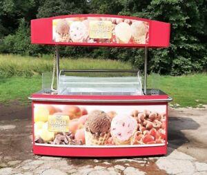 Eistheke Mobil Eistruhe Eiswagen Eisstand