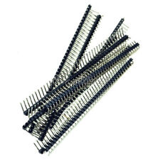 10pcs 1x40 Pin 2.54mm Right Angle Single Row Male Pin Header Connector