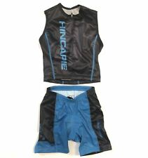 Kids' Medium Hincapie Triathlon Set Tri Top and Shorts Blue/Black CLOSEOUT