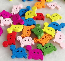 100pcs Mixed Colors Tortoise Wooden Buttons Scrapbook Sewing DIY Crafts Hnk207