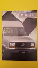 Fiat Ducato chassis cab Panorama SWB LWB van brochure sales catalogue 1987 MINT