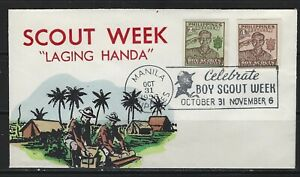 PHILIPPINES - 1956 BOY SCOUT WEEK CACHET COVER