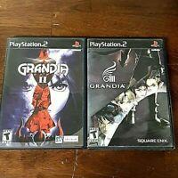 Grandia II + Grandia III (Sony PlayStation 2 Game, 2002) PS2 With Manuals Lot