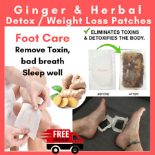 20 Detox Ginger Herbal Foot Patches Pads Toxin Removal Weight Loss Anti-Swelling