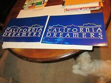 "California Dreamers , Advertising Display Signs , Vintage , Rare , 17 1/2"" X 12"""