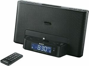 Sony ICFCS15IPN Lightning iPhone/iPod Clock Radio Speaker Dock (Black)