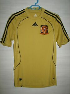 SPAIN 2008-10 AWAY SHIRT ADIDAS SOCCER SIZE S