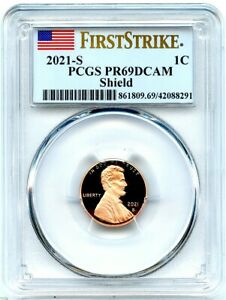 2021-S Proof Lincoln Cent, PCGS PR-69 DCAM First Strike, Monster Flashy Coin!