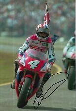 Mick Doohan foto firmada de mano 12x8 Honda MotoGP 1.