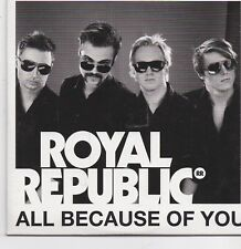 Royal Republic-All Because Of You promo cd single