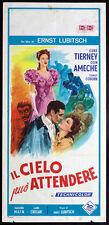 affiche du film pour le CIEL peut ATTENDRE tierney,ameche,LUBITSCH; ILL.
