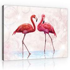 CANVAS Wandbild Leinwandbild Bild Flamingo Vogel Tier Design Rosa  3FX10199O6