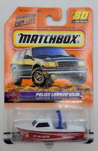 Matchbox 1999 Fire Rescue 16 Police Launch Boat #80 '98-'00 Pkg