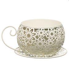 Shabby Chic Vintage Tea Cup FIORIERA VASO titolare GIARDINO CASA AFFARE