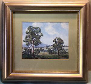 E A Rosebray Green Pastures NSW Framed Watercolour