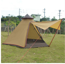 Mongolian Yurt Tent Outdoor Five Person Waterproof Shelter Camping Teepee Hiking