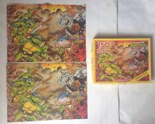 Teenage Mutant Hero Turtles TMNT 1990 150 piece Puzzle WADDINGTONS Poster Ninja