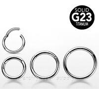 G23 Titanium Hinged Seamless Segment Ring Hoop Nose Ring Labret Earring Septum