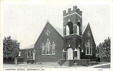 Vintage Postcard Christian church Carterville Il Williamson County