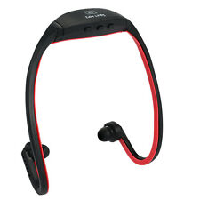 Wireless Mp3 Player Wireless Headset 8GB With FM Funtion TF/ Micro Color Red