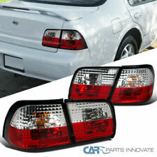 For Nissan 95-96 Maxima Red/Clear Parking Tail Lights Reverse Brake Rear Lamps