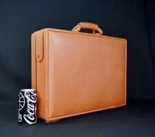 "Hartmann Belting Leather Attaché A9 BLT 4700 British Tan 5"" Briefcase + Fan File"