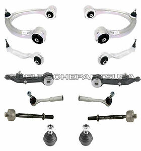 Mercedes W220 S500 S430 Upper Lower Control Arms Ball Joints SUSPENSION Kit 12