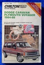 Chiltons Dodge Caravan Plymouth Voyager 1984-88 Repair Manual 7482 Tune-Up Guide