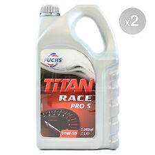 2 x 5 Litres - Fuchs Titan Race Pro S 10W-50 Ester Synthetic Engine Oil