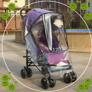 Universal Baby Stroller Waterproof Rain Cover Wind Dust Shield Crier  QA