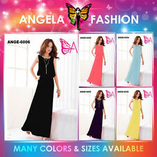 Mehrfarbige knielange Damenkleider in Übergröße