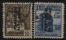 Partigiani Alto Adige - 2  francoboll differenti  usati
