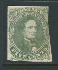 Bigjake: CSA #1c, 5 cent Jefferson Davis