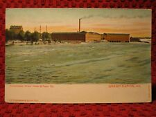 EARLY 1900'S. CONSOLIDATED WATER POWER & PAPER CO. GRAND RAP. WIS POSTCARD. K13