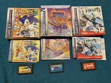 Gameboy Advance Boxed Game Bundle: Sonic Advance 3, Spyro Season Of Ice, Robots