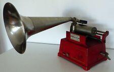 Phonographe Pathe Le Gaulois Rouge, complet, marche, tout d'origine