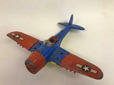 Vintage Hubley Navy Fighter Bomber Diecast Airplane Kiddie Toy Plane USA 495