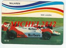 Carte trading card Formule 1 F1 McLaren MP4/1B Niki Lauda Marlboro