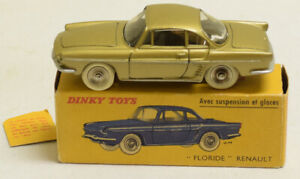FRENCH DINKY #543 RENAULT FLORIDE, METALLIC GREEN-GOLD, NR-MINT, GOOD ORIG BOX