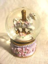 Classic Pink - Carousel Snow Globe (B)