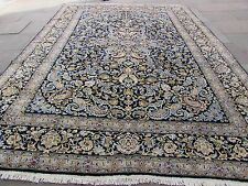 Old Hand Made Traditional Persian Rugs Oriental Wool Blue Large Carpet 411x306cm