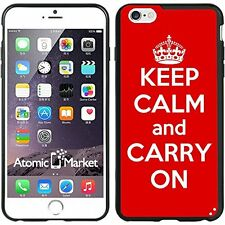 Red Keep Calm and Carry On For Iphone 6 Plus 5.5 Inch Case Cover