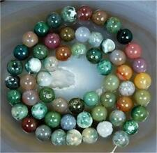 """8mm Natural Colorful Indian Agate Round Beads 15"""""""