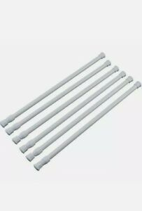 """6 Pcs Tension Rods For Small or Bathroom Window 15.5"""" to 28.5"""" Easy installation"""