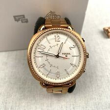 Fossil Women's Smart Watch Quartz Rose Gold Stainless Steel Strap Analog FTW1208