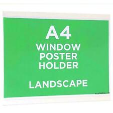 A4 Poster Window Display Frame Clear Self Adhesive Landscape Reuseable
