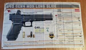 GLOCK G40 GEN4 MOS LS Banner 3x5ft 150x90cm FLAGGE Poster M169 Decal Poster