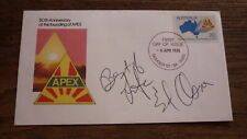 FAMOUS AMERICAN 1960s TV ICON ED ANSER HAND SIGNED FIRST DAY COVER