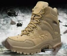 Mens High Top Military Tactical Boots Desert Army Hiking Combat Ankle Boots 2020